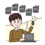 데이터베이스 개발자의 설명을 돕기 위한 일러스트