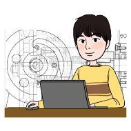 기계공학 기술자의 설명을 돕기 위한 일러스트