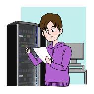 정보시스템 운영자의 설명을 돕기 위한 일러스트