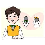 결혼상담원의 설명을 돕기 위한 일러스트