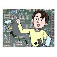 전자공학 기술자의 설명을 돕기 위한 일러스트