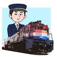 철도기관사의 설명을 돕기 위한 일러스트