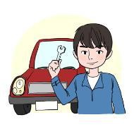 자동차정비원의 설명을 돕기 위한 일러스트