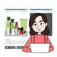 소셜미디어전문가의 설명을 돕기 위한 일러스트