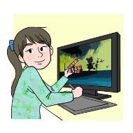 컴퓨터그래픽디자이너의 설명을 돕기 위한 일러스트