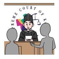판사 및 검사이 이해를 돕기위한 일러스트
