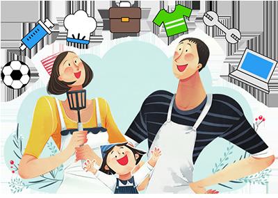 요리하는가족그림