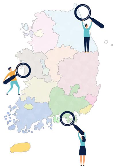 지도에서진로체험지원센터찾는그림
